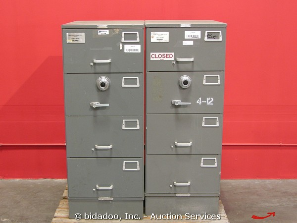 Captivating Lot Of (2) GSA Combination Lock Safe Security File Cabinet 4 Drawer Mosler  SFC 4 SKU: 2359753 A: 0013000000CXCfg O: 0065000000MiqUA PA: Nice Look